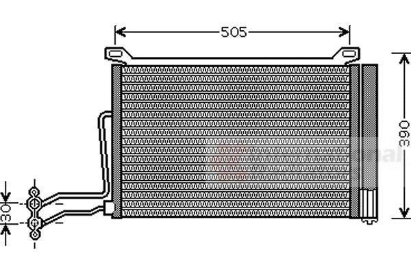Condenseur, climatisation - VWA - 88VWA06005264