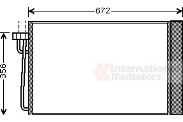 Condenseur, climatisation - VAN WEZEL - 06005267