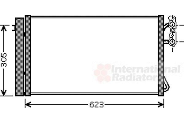 Condenseur, climatisation - VAN WEZEL - 06005296