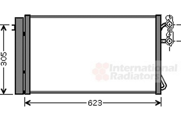Condenseur, climatisation - VWA - 88VWA06005296