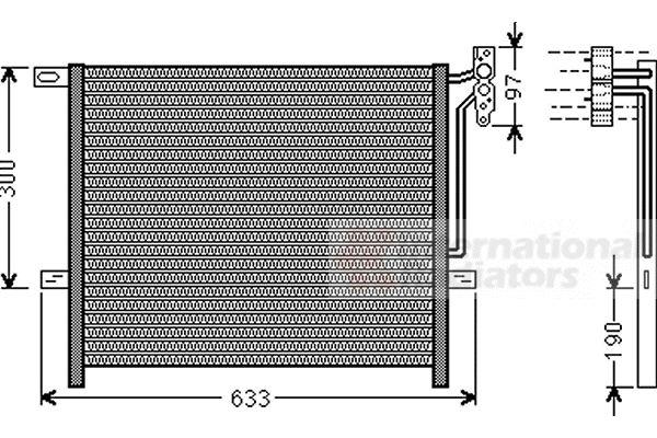 Condenseur, climatisation - VAN WEZEL - 06005369