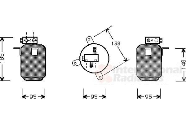 Filtre déshydratant, climatisation - VWA - 88VWA0600D001