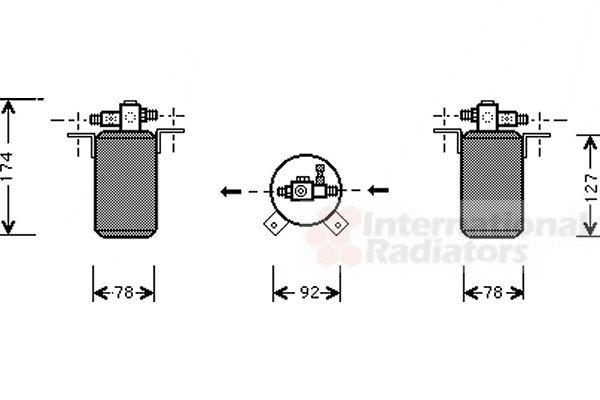 Filtre déshydratant, climatisation - VAN WEZEL - 0600D021