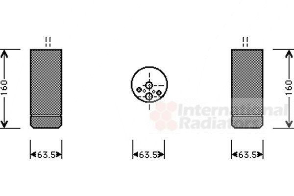 Filtre déshydratant, climatisation - VAN WEZEL - 0600D063