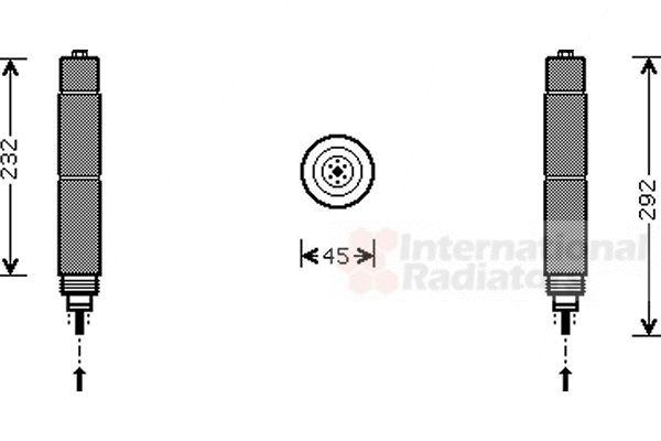 Filtre déshydratant, climatisation - VAN WEZEL - 0600D078