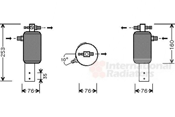 Filtre déshydratant, climatisation - VWA - 88VWA0600D079