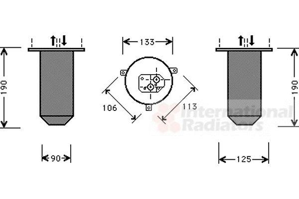 Filtre déshydratant, climatisation - VAN WEZEL - 0600D216