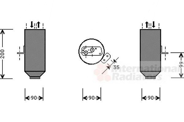 Filtre déshydratant, climatisation - VWA - 88VWA0600D217