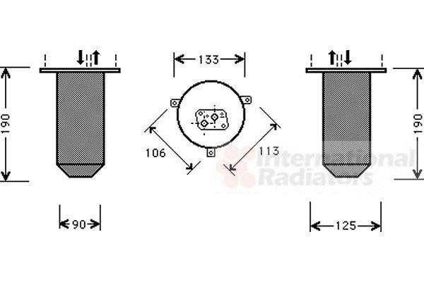 Filtre déshydratant, climatisation - VAN WEZEL - 0600D218