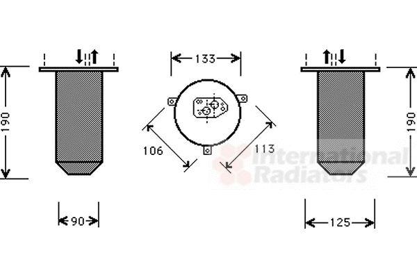 Filtre déshydratant, climatisation - VWA - 88VWA0600D220