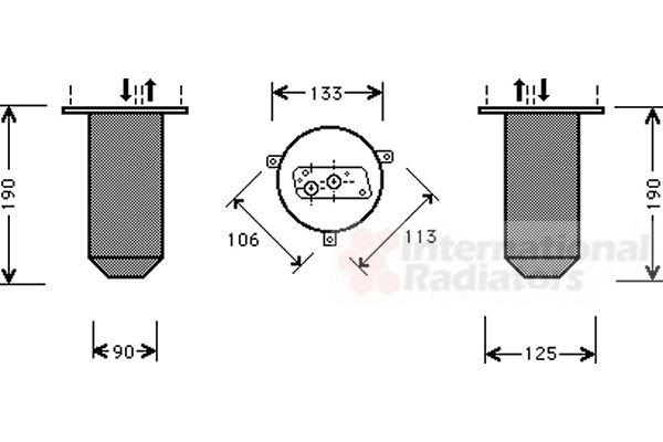 Filtre déshydratant, climatisation - VAN WEZEL - 0600D221