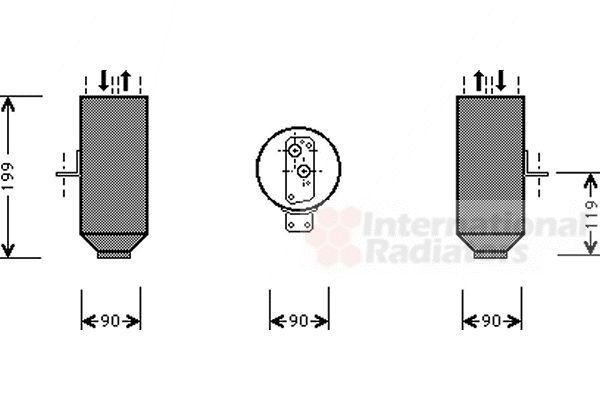 Filtre déshydratant, climatisation - VWA - 88VWA0600D223