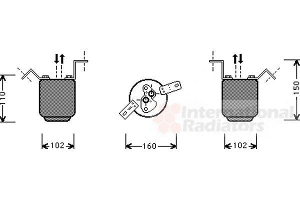 Filtre déshydratant, climatisation - VWA - 88VWA0600D224