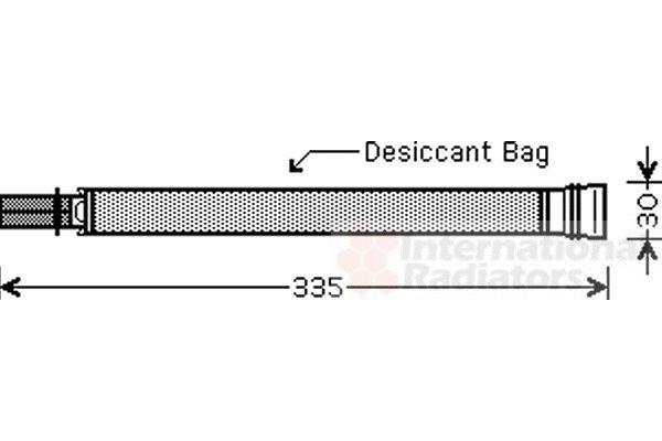 Filtre déshydratant, climatisation - VAN WEZEL - 0600D297