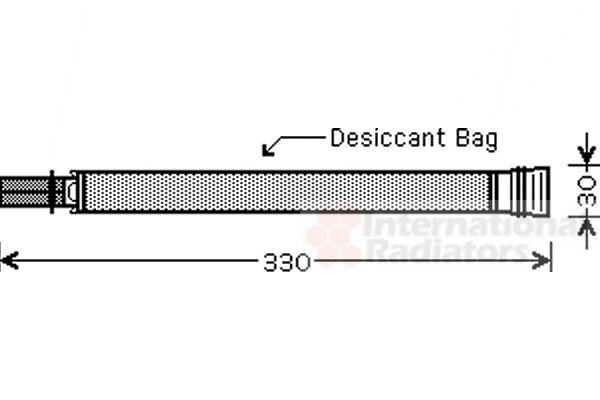 Filtre déshydratant, climatisation - VWA - 88VWA0600D312