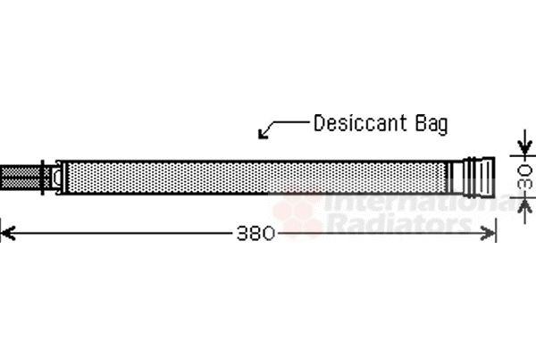 Filtre déshydratant, climatisation - VAN WEZEL - 0600D313