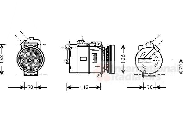 Compresseur, climatisation - VAN WEZEL - 0600K064