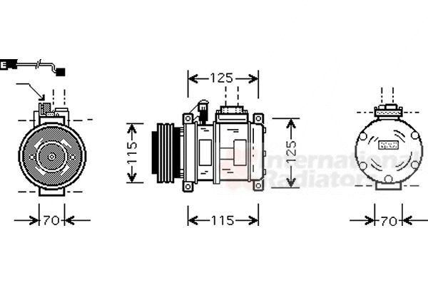 Compresseur, climatisation - VAN WEZEL - 0600K066