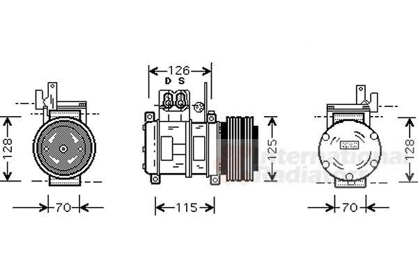 Compresseur, climatisation - VAN WEZEL - 0600K073