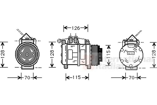 Compresseur, climatisation - VAN WEZEL - 0600K074