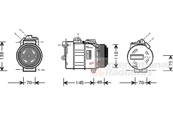 Compresseur, climatisation - VAN WEZEL - 0600K181
