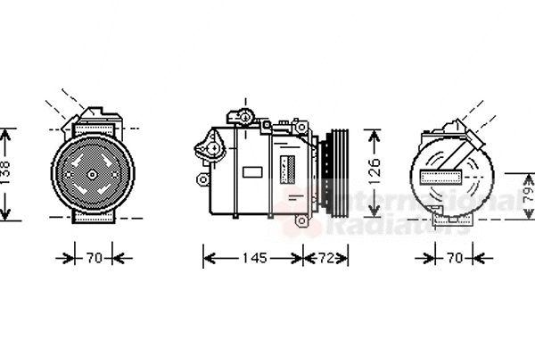 Compresseur, climatisation - VAN WEZEL - 0600K226