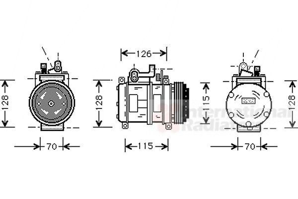 Compresseur, climatisation - VAN WEZEL - 0600K227