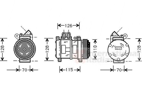 Compresseur, climatisation - VAN WEZEL - 0600K229