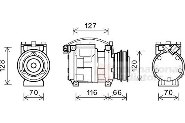 Compresseur, climatisation - VWA - 88VWA0600K230