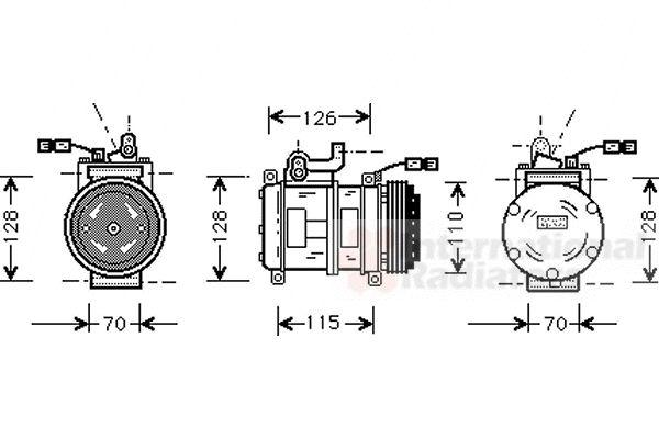 Compresseur, climatisation - VAN WEZEL - 0600K231