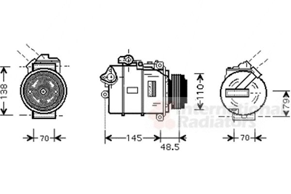 Compresseur, climatisation - VAN WEZEL - 0600K309