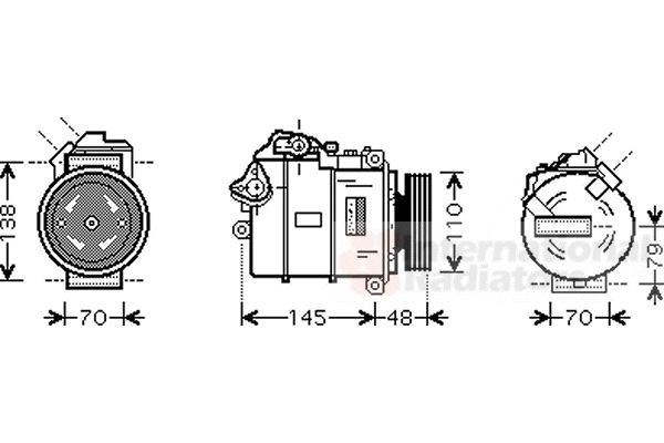 Compresseur, climatisation - VAN WEZEL - 0600K317