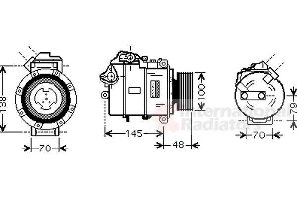 Compresseur, climatisation - VAN WEZEL - 0600K328