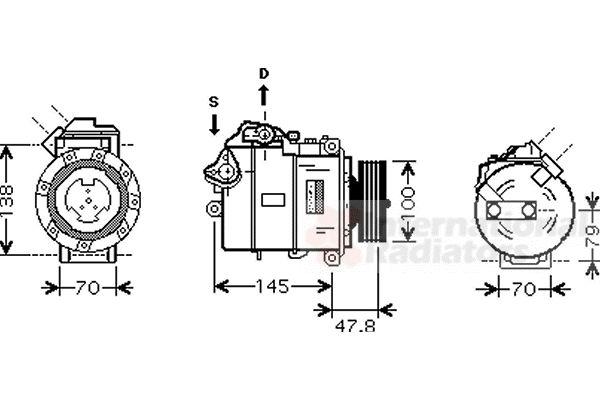 Compresseur, climatisation - VAN WEZEL - 0600K331