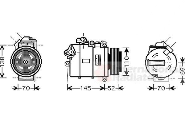 Compresseur, climatisation - VAN WEZEL - 0600K336