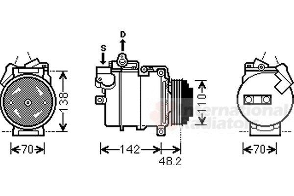 Compresseur, climatisation - VAN WEZEL - 0600K386