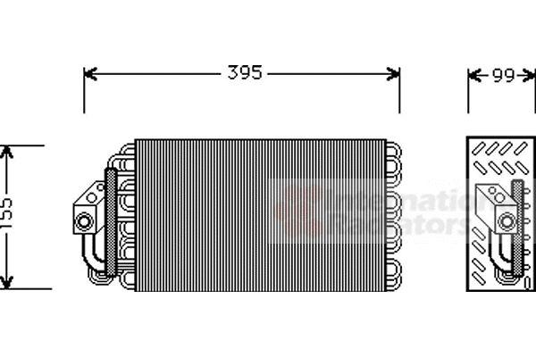 Evaporateur climatisation - VAN WEZEL - 0600V001