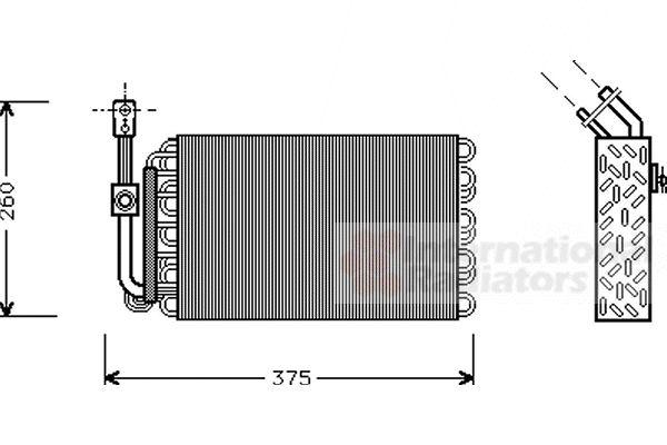 Evaporateur climatisation - VAN WEZEL - 0600V002