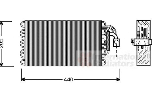 Evaporateur climatisation - VAN WEZEL - 0600V003