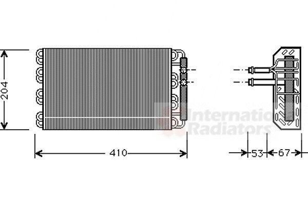 Evaporateur climatisation - VAN WEZEL - 0600V019