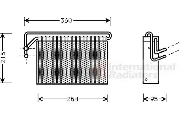 Evaporateur climatisation - VAN WEZEL - 0600V024