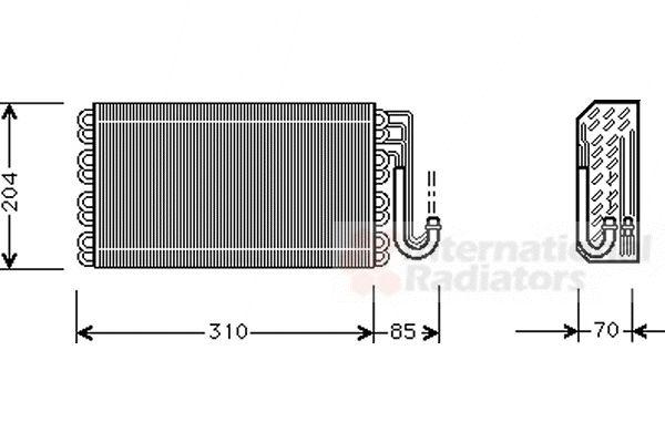 Evaporateur climatisation - VAN WEZEL - 0600V025