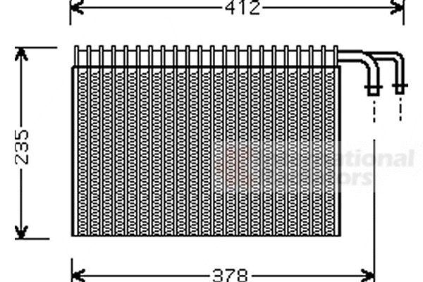 Evaporateur climatisation - VAN WEZEL - 0600V268