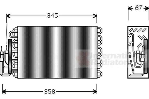 Evaporateur climatisation - VAN WEZEL - 0600V272