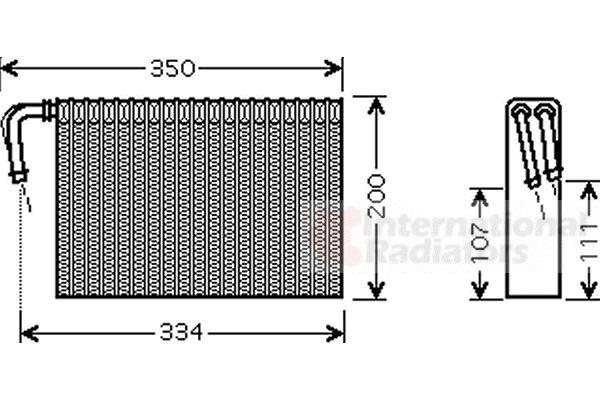 Evaporateur climatisation - VAN WEZEL - 0600V305