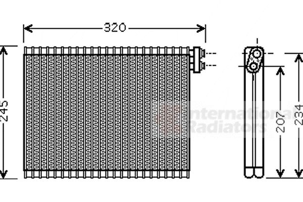 Evaporateur climatisation - VAN WEZEL - 0600V339