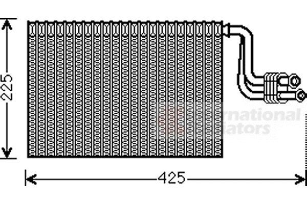 Evaporateur climatisation - VAN WEZEL - 0600V364
