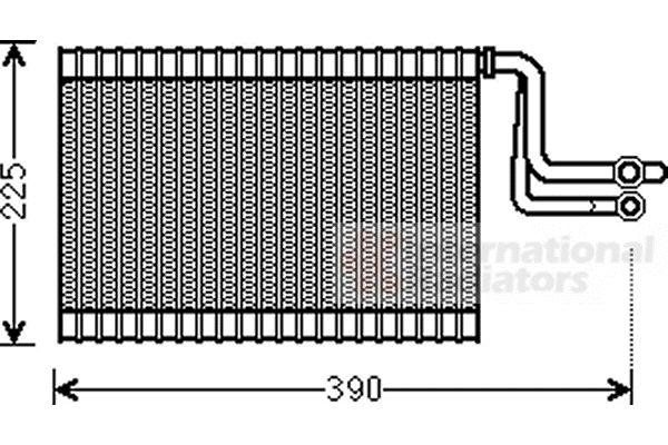 Evaporateur climatisation - VAN WEZEL - 0600V365