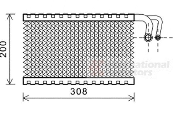 Evaporateur climatisation - VAN WEZEL - 0600V399