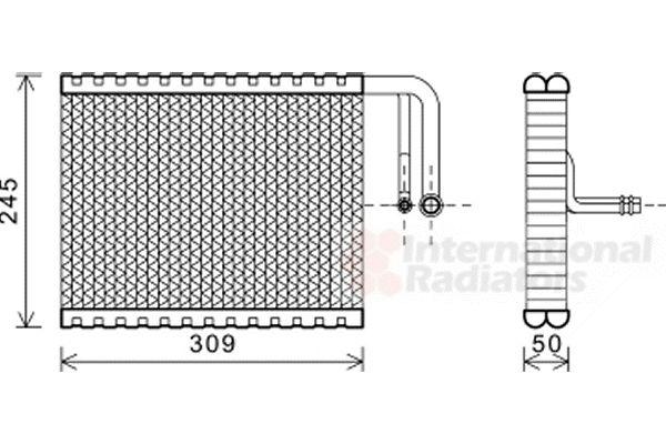 Evaporateur climatisation - VAN WEZEL - 0600V402